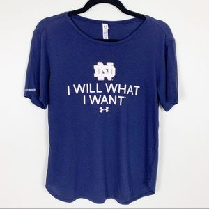 Under Armour   Notre Dame Graphic Tee